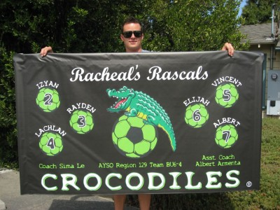 3' x 5' Soccer banner w/ pole pockets